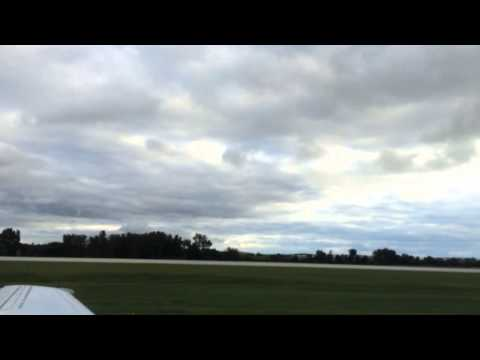 An Embraer ERJ–145 takes off from Eastern Iowa Airport in Cedar Rapids, Iowa