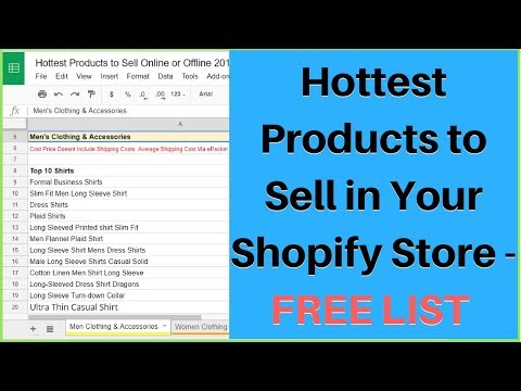Hottest Products to Sell in your Shopify Online Store - FREE