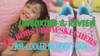 LiL BOBS FROM SKECHERS UNBOXING + REVIEW | AIR-COOLED MEMORY FOAM SHOES | vlog #36