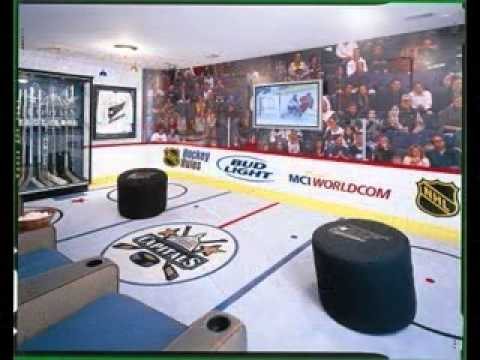 DIY hockey bedroom design decorating ideas - YouTube