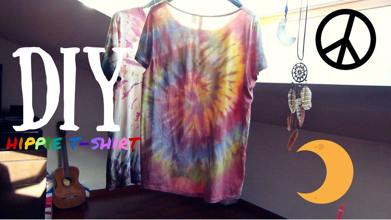 Diy hippie t shirt fai da te 1 youtube solutioingenieria Gallery
