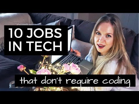 10 Jobs in Tech that DON'T require you to CODE | Coding Blonde Myth Buster N2
