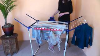 Leifheit Pegasus 200 Deluxe Drying Rack(This video includes how to set up the Leifheit Pegasus 200 Deluxe Drying Rack. For more information on our clothes dryers, please visit our website, ..., 2015-02-13T21:04:07.000Z)