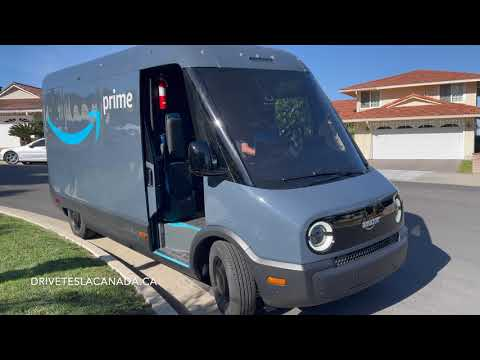 Amazon's Rivian delivery van spotted dropping off packages in Los Angeles