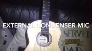 Demo of iRig Acoustic Stage vs Cherub WCP-60G clip on Piezo