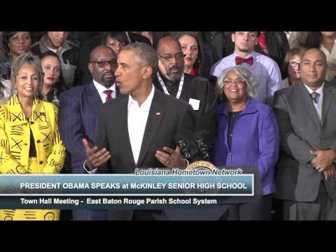 President Obama Speaks at McKinley Senior High School