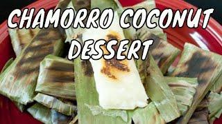 Apigige' Or Apigigi Or Cassava And Coconut In Banana Leaves