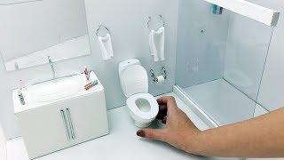 DIY Miniature - Bathroom for Barbie Dolls - Hacks And Crafts