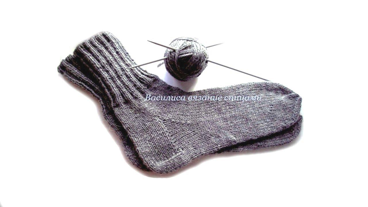 Вяжем носки мужские спицами