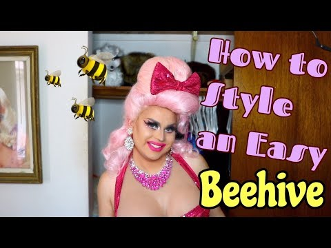 HOW TO STYLE AN EASY BEEHIVE | EASY DRAG HAIR STYLES | JAYMES MANSFIELD
