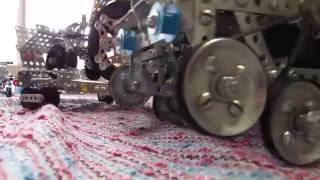 Железный конструктор вездеход с тралом металлический конструктор