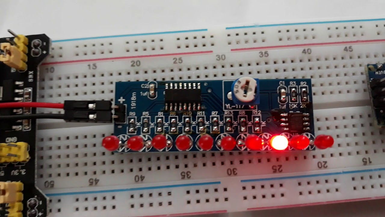 CD4017 and NE555 LED Chaser Circuit - YouTube