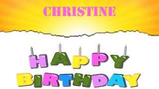 Christine   Wishes & Mensajes - Happy Birthday