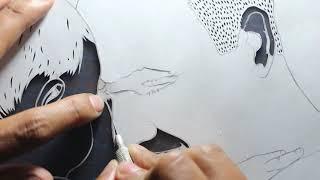 Papercut - Potrait - Papercutting - Papercraft - Paper - Art  - Parth Kothekar