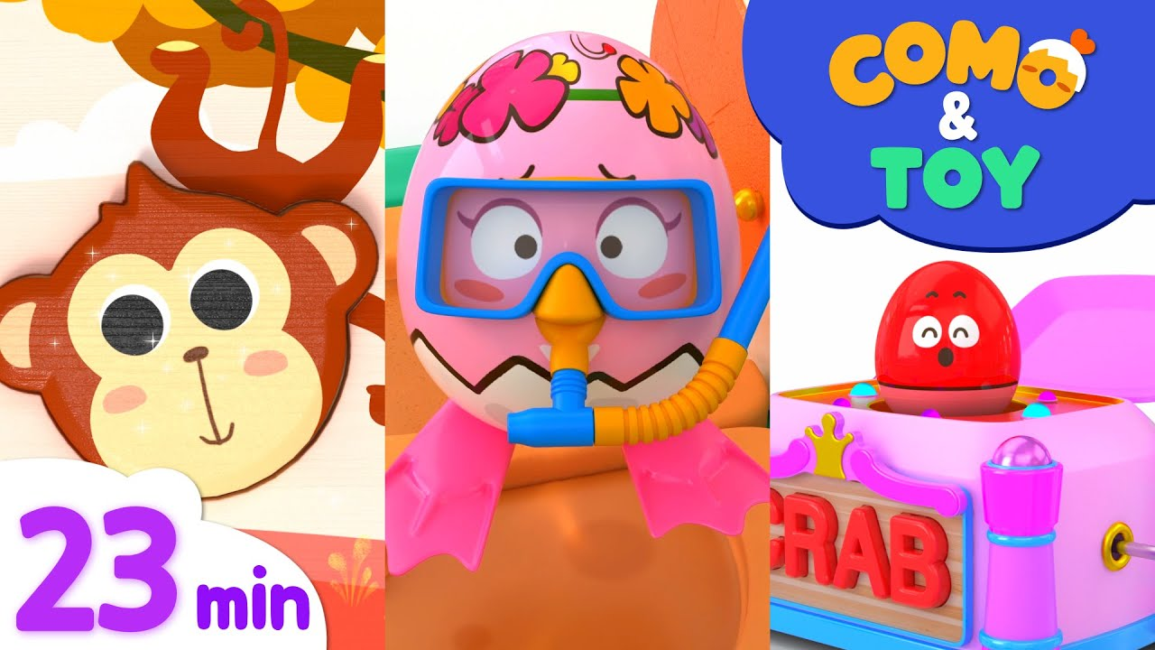 Como | Animal Puzzle 2 + More Episode 23min | Learn colors and words | Como Kids TV
