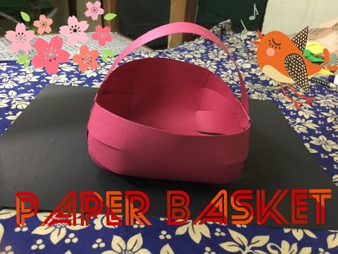 How to Make a Paper Basket - Easy DIY
