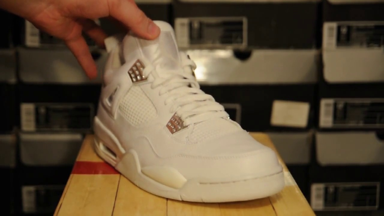 2aa39e90464 2005 Air Jordan 4 (IV) Retro ''Pure $'' (308497 102) - YouTube