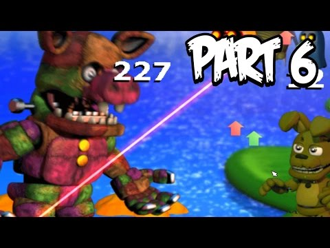 Five Nights at Freddys World Gameplay Walkthrough Part 6 | ALL 5 BUTTONS! GIANT PIG BOSS!