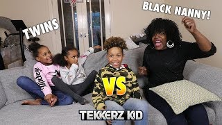 TWINS vs BLACK NANNY Football Challenge!!