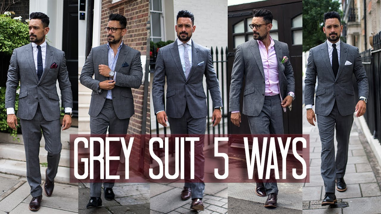 83bb5b037e1 How to Wear a Grey Suit 5 ways