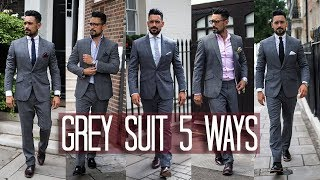 How to Wear a Grey Suit 5 ways | Men's Style & Fashion Lookbook