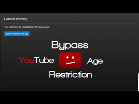 How To Bypass YouTube Age Restriction!  ▶️