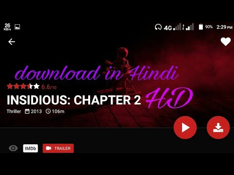 How To Download Insidious Chapter 2 Hollywood Movies Hindi Dubbed Hd