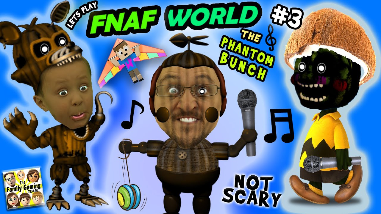 Fnaf world 3 the phantom bunch w fgteev duddy chase more talk less gameplay youtube - Fnaf 3 not scary ...