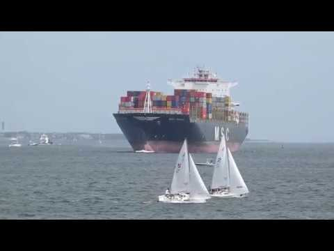 Container Ship MSC Rania Enters Charleston Harbor 2019