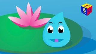 Круговорот воды природе. Путешествие Капельки. Развивающий мультик для детей