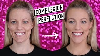 HOW TO GET PERFECT SKIN | full coverage foundation tutorial