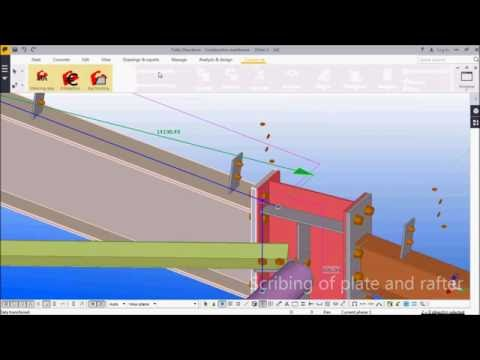 Advanced Scribing / layout marking for Tekla - ConstruSteel