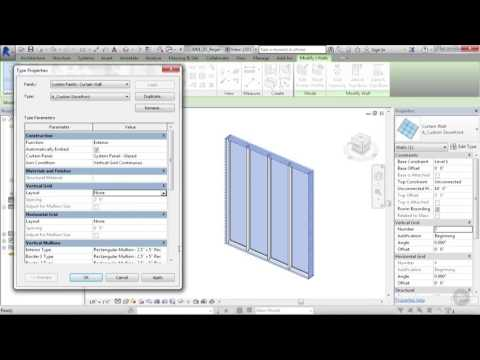 Understanding Curtain Wall Constrains in Revit