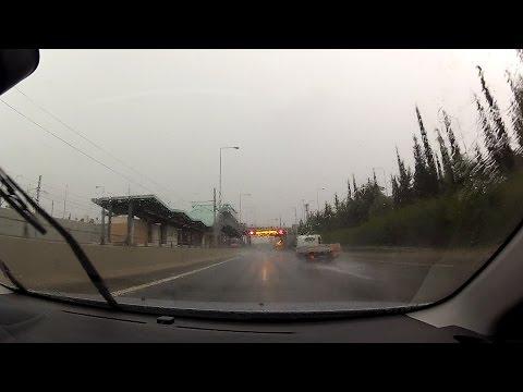 Storm on Attiki Odos during Athens