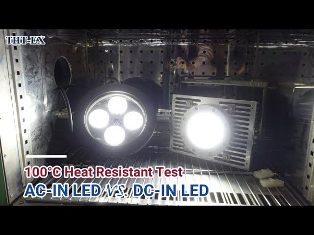 AC-IN LED VS. DC-IN LED在高溫100°C 環境下的耐熱測試