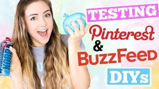 Testing Pinterest and Buzzfeed DIYs !!