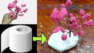 como fazer ramos de arvore de papel higiênico