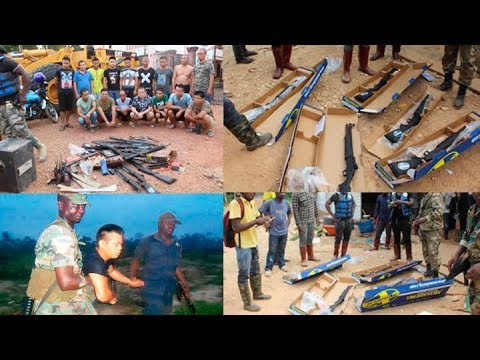 16 Chinese with guns arrested over illegal mining in Ashanti Region