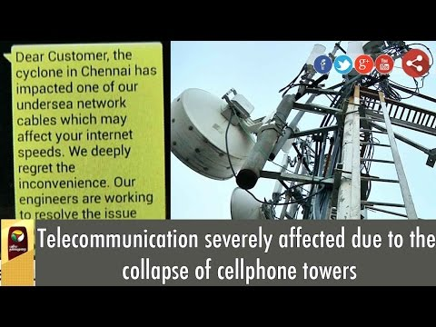 Telecommunication severely affected due to the collapse of cellphone towers