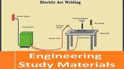 Electric Arc Welding Working Principle and Process  | ENGINEERING STUDY MATERIALS