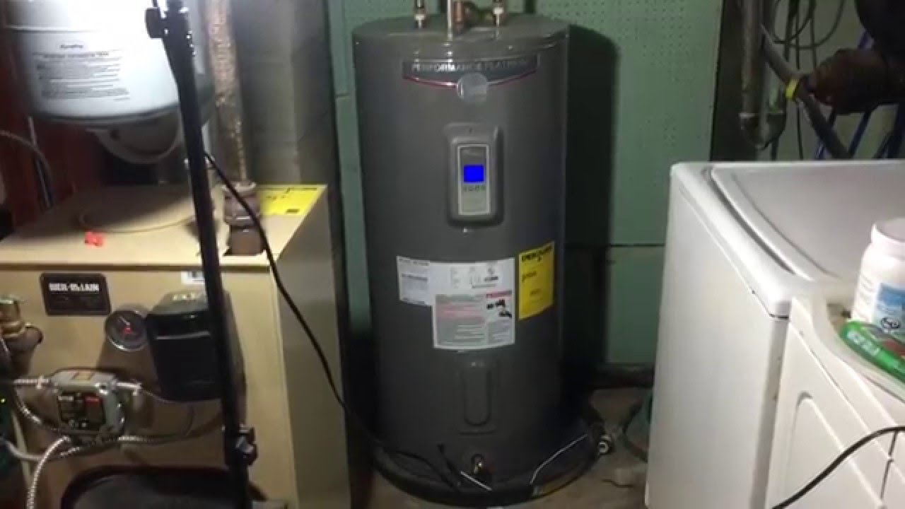 rheem performance platinum 50 gallon electric hot water heater review youtube [ 1280 x 720 Pixel ]