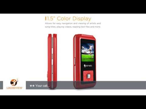 Ematic EM208VIDRD 1.5-Inch 8GB MP3 Video Player with FM Tuner, Red | Review/Test