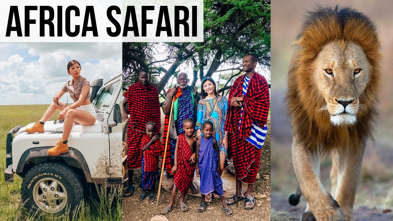 1ST SAFARI EXPERIENCE IN AFRICA! + The Maasai Tribe with 27 Wives & 100 Kids | TANZANIA VLOG