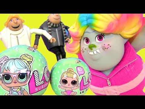 #LOL Baby Dolls Series 2 Видео для Детей Trolls Гадкий Я 3 Kinder Игрушки ЛОЛ #Мультик #Пупсик