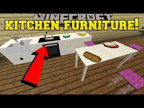 Minecraft: 5 PIECES OF EPIC KITCHEN FURNITURE!!! - Custom Command - Видео из Майнкрафт (Minecraft)