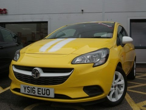 2016 16 Vauxhall Corsa 1.2 16V Sting 3dr in Yellow
