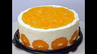 Торт Мандариновый новогодний торт