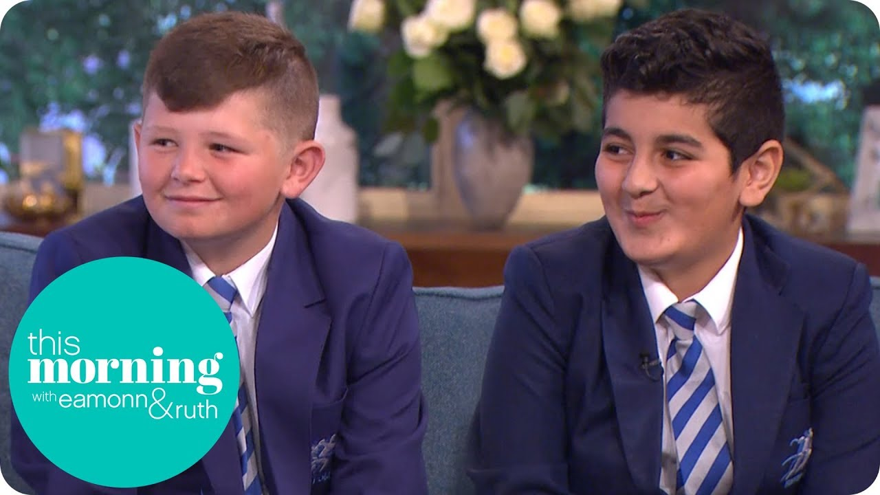 'Educating Greater Manchester' Stars and Best Friends Jack and Rani   This Morning