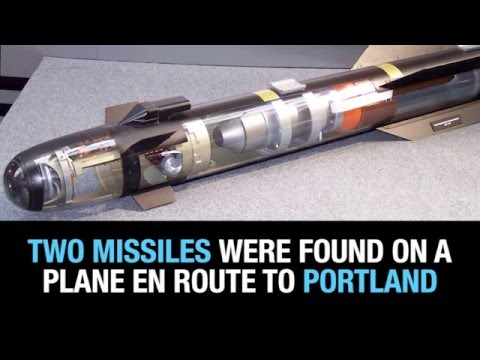 Bomb-sniffing dog discovers 2 Hellfire missiles bound for Portland