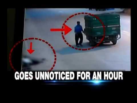 Speeding vehicle hits man - Road accident in Delhi